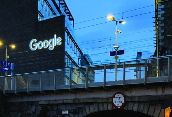 Google Skyline Sign | Night Sign