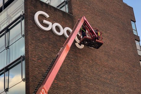 Google Logo | Skycraper Signage | Building Signage