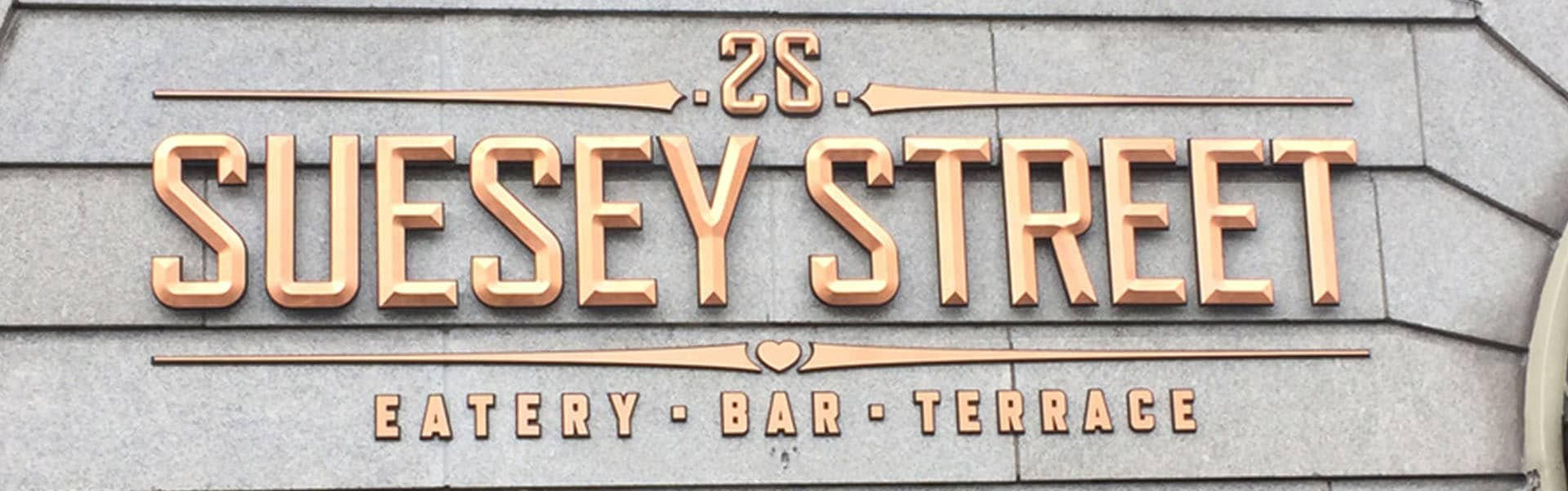 Suesey Street Logo | Gold Leaf Signs
