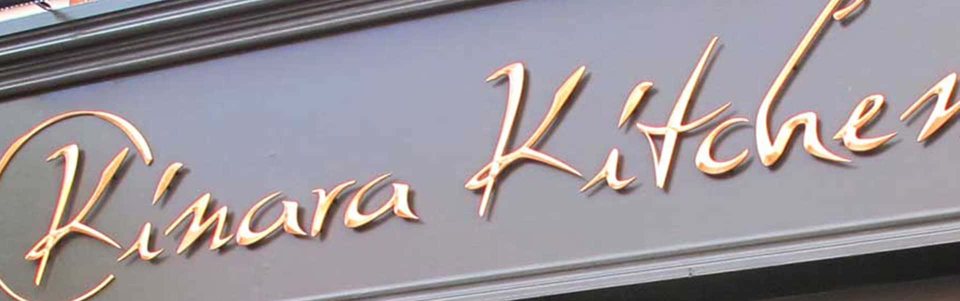 Kinara Kitchen | Gold Leaf Signs