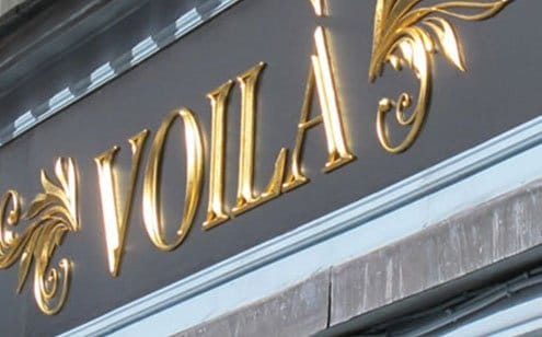 Voila | Gold Leaf Signs | Gold Leaf Logo