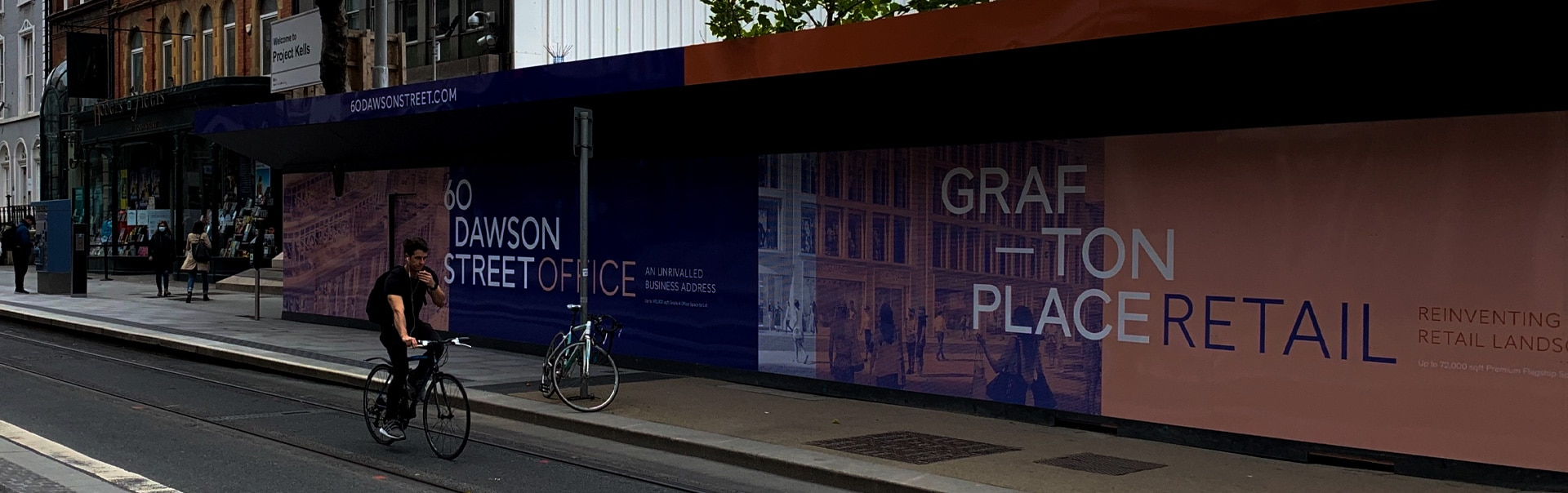 Placemaking hoarding at Grafton Place / 60 Dawson Street