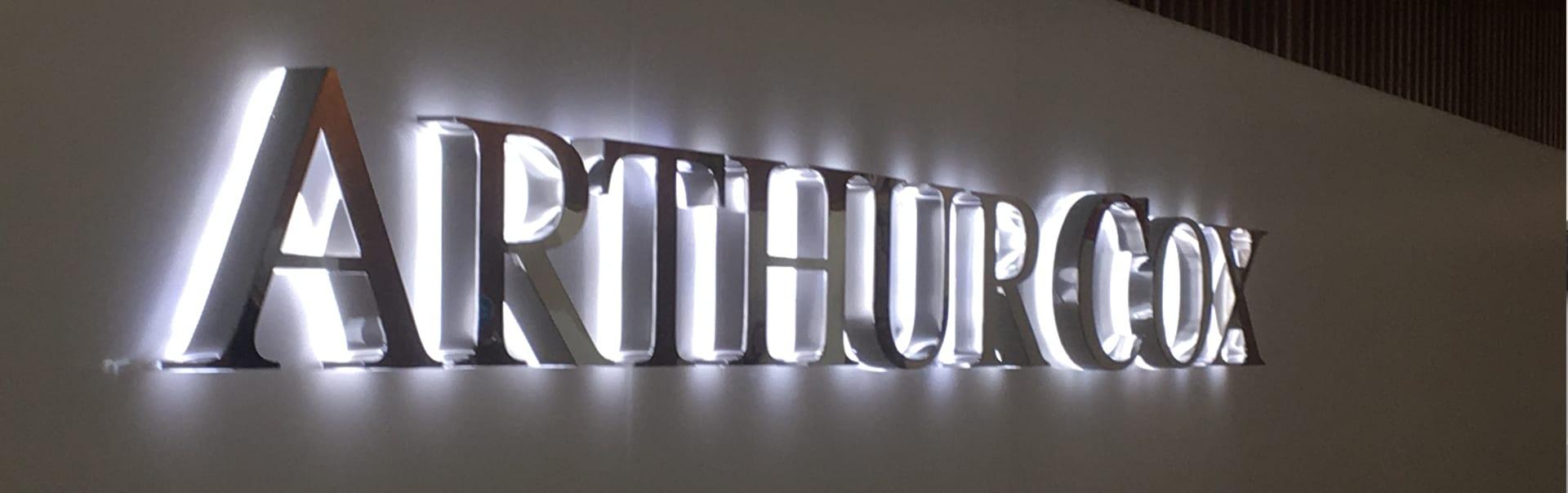 Arthur Cox | Halo Lit Letters