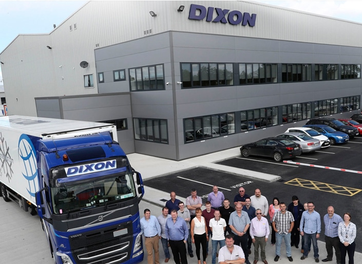 Dixon International Logistics make a confident statement with their new skyline sign