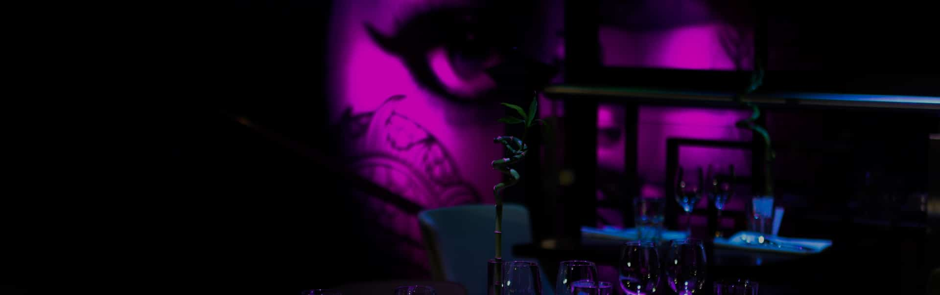 Our wall vinyl is a focal point of the Gin Thai restaurant