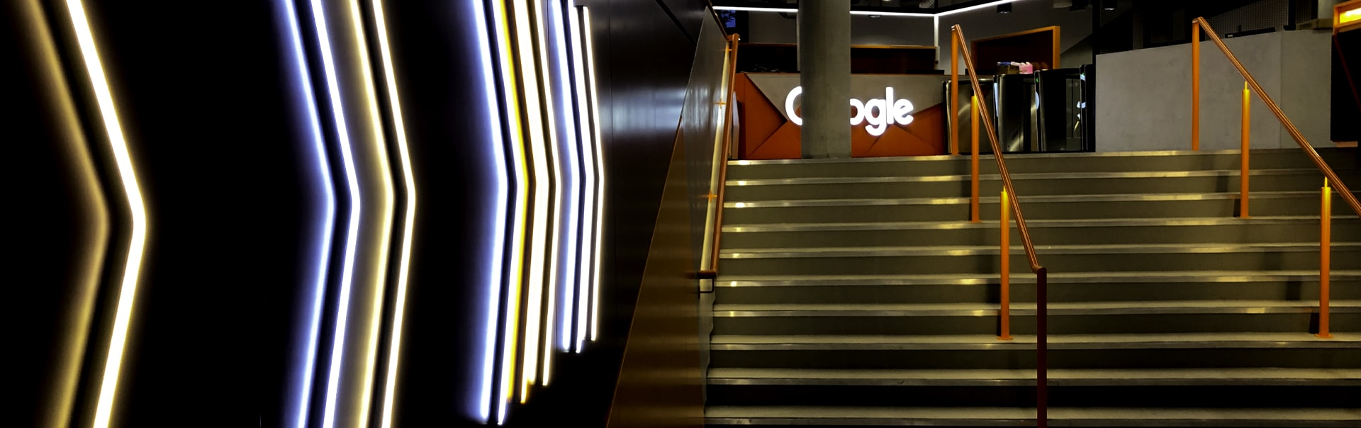 LED Neon wayfinding arrows | Google Offices