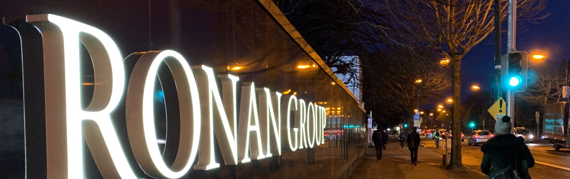 Ronan Group Logo Sign | Hoarding