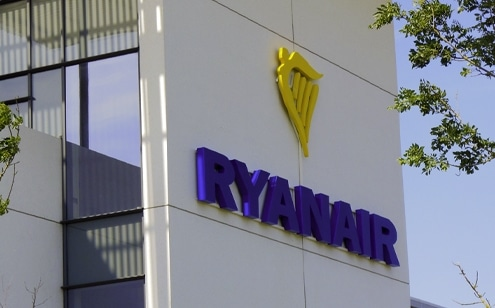 Ryanair Skyline Sign