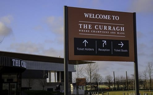 The Curragh Racecourse | Panel & Post sign