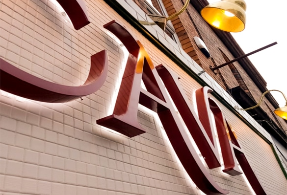 Port House Cava Restaurant Sign