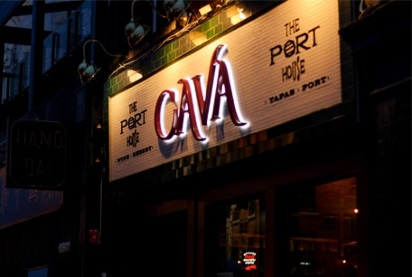 Port House Cava Restaurant Sign | Night Time