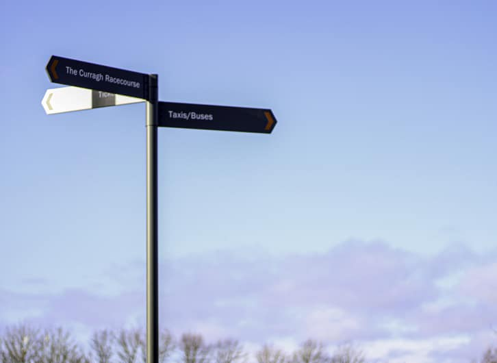 Curragh Racecourse | Finger Post Signs