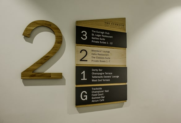 The Curragh Racecourse | Directory Signs | Indoor Signs