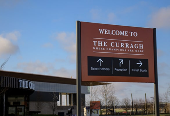 The Curragh Racecourse | Post and Panel Sign