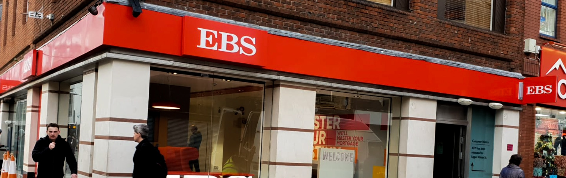 Fascia signage gives EBS high street presence in Dublin 1