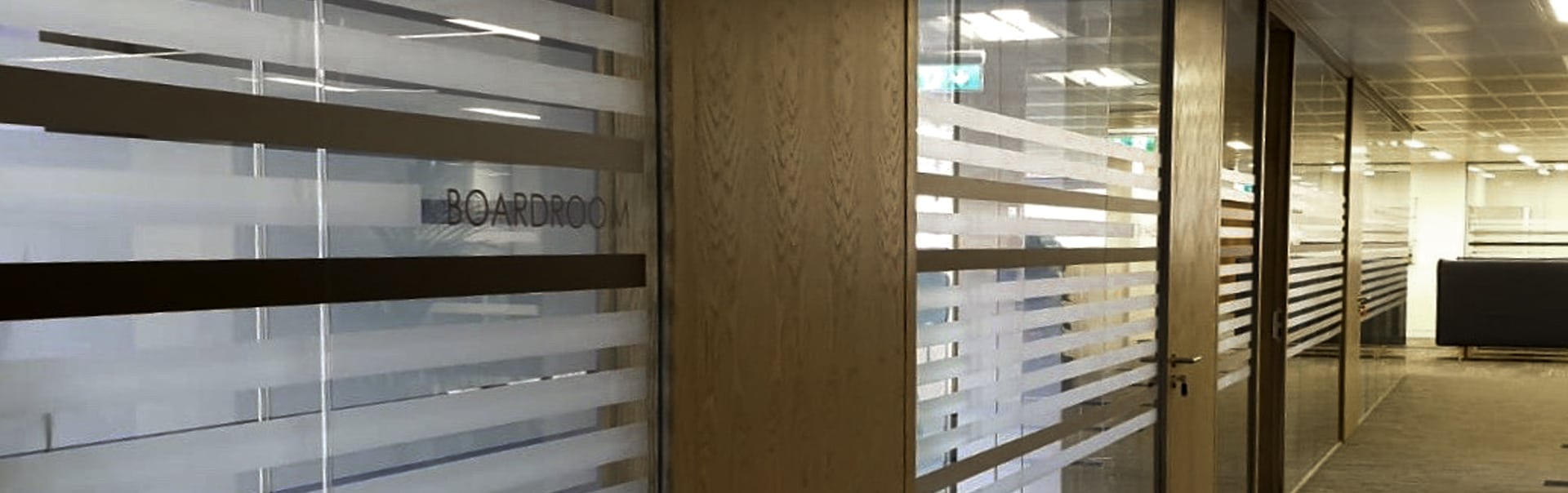 Cut Vinyl | Horizon Glass Stripe Design