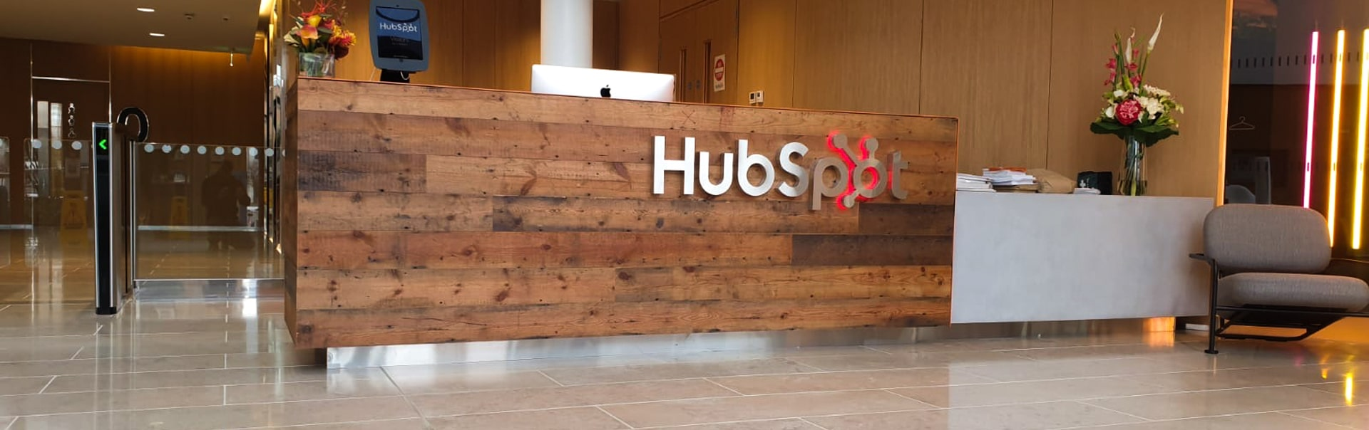 Hubspot Reception | Lobby Signs