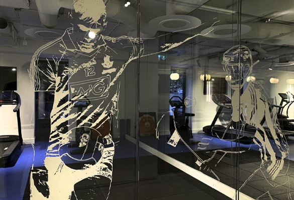 Our Optically-Clear-PET manifestations make graphics look like they are printed directly on glass