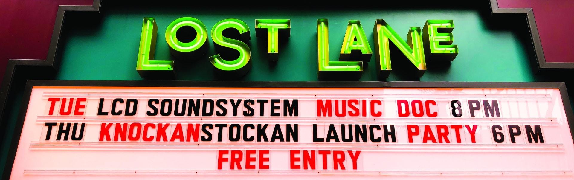 Lost Lane Sign | Storefront Sign