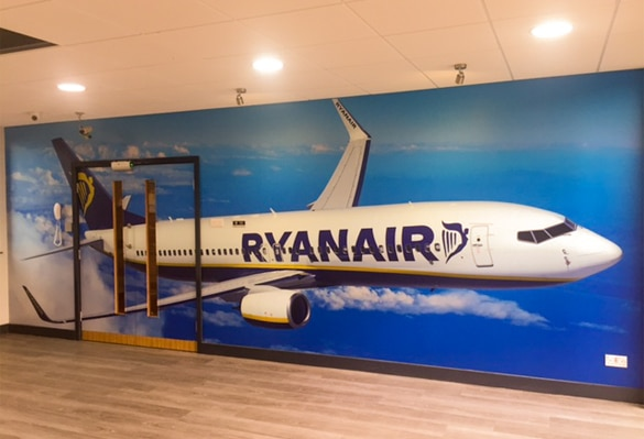 Ryanair Wall Graphics | Ryanair Plane