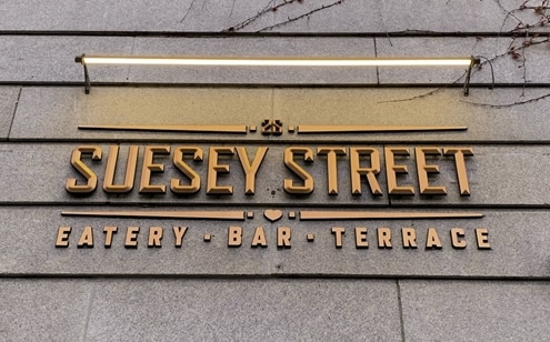 Suesey Street | Lighting Sign