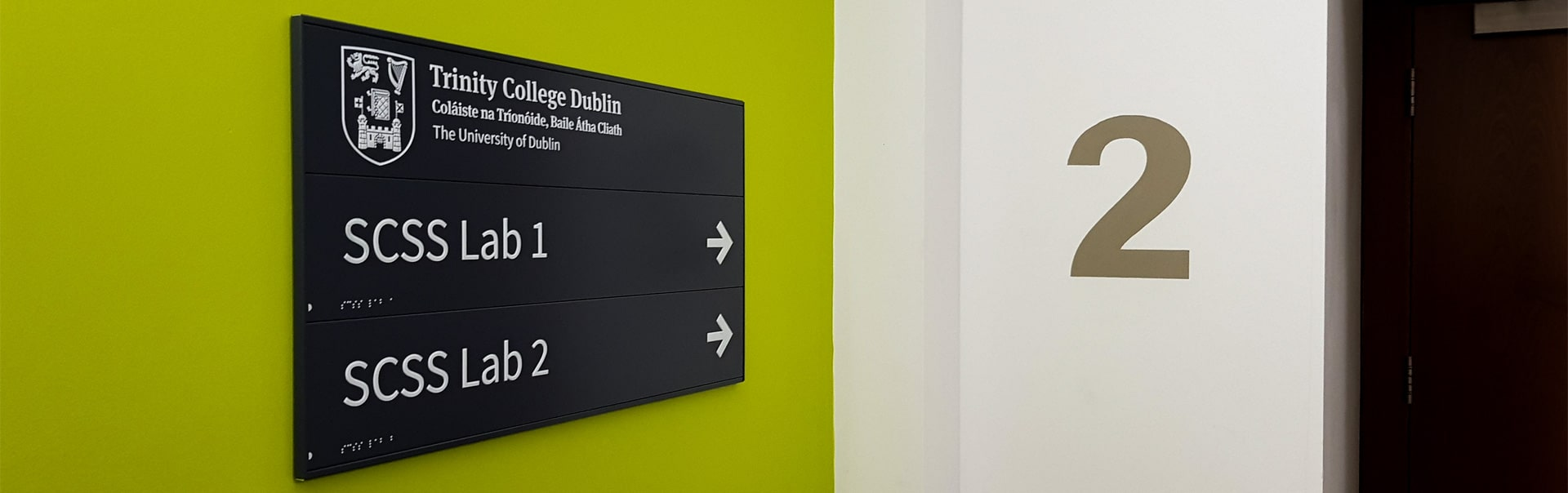 This braille wayfinding sign makes Trinity College Dublin accessible to all