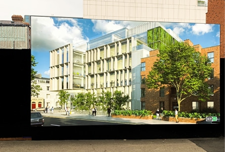 Large format Flexface lightbox promotes new Cadenza office scheme, Dublin 2