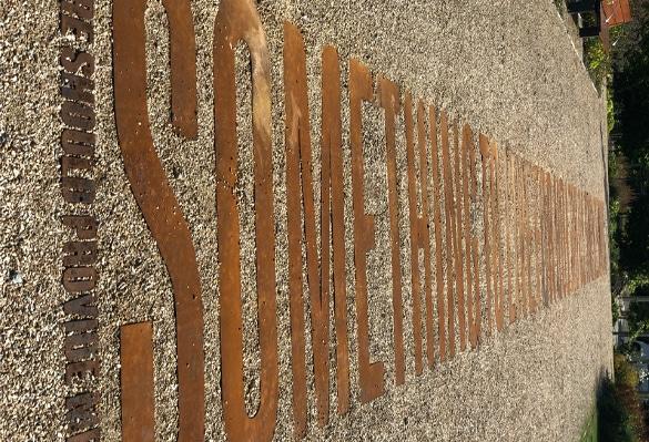A Walk, sculpture installation at Richmond Barracks, Dublin