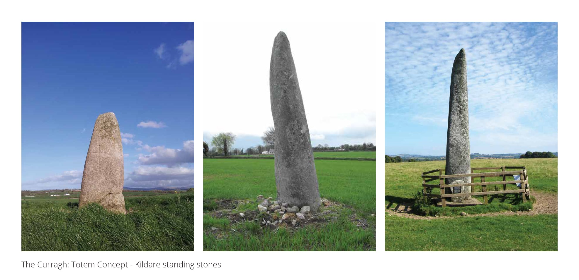 Local monoliths inspired our totem concept for The Curragh Racecourse